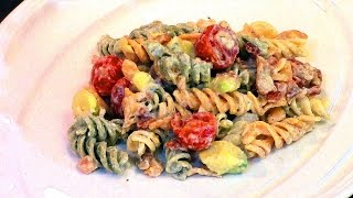 """creamy Bacon Tomato And Avocado Pasta Salad"" - The Chef Ron Lock Show S1/e7"