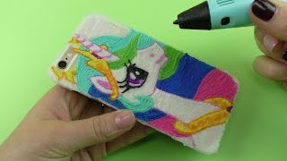 How to Draw Princess Celestia Phone Case with 3D PEN | My Little Pony Friendship is Magic
