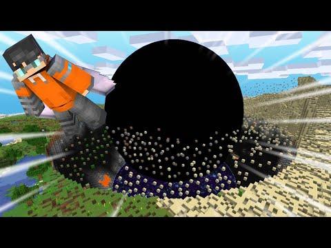 Minecraft pero un Agujero Negro CRECE CADA SEGUNDO