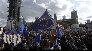 U.K. lawmakers delay decision on Brexit; protests demand second referendum
