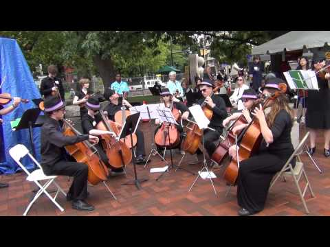Kanack School of Music Cellos at the Rochester Clothesline Festival