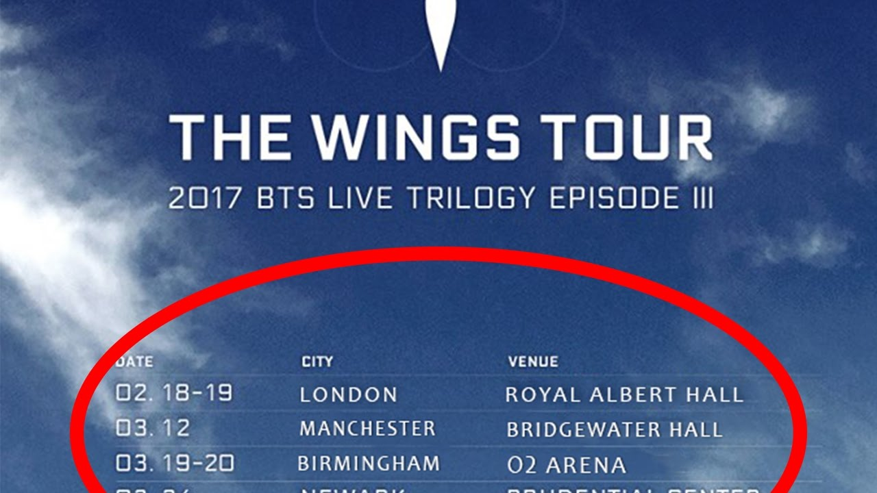 Bts Wings Europe Tour Dates Confirmed Youtube