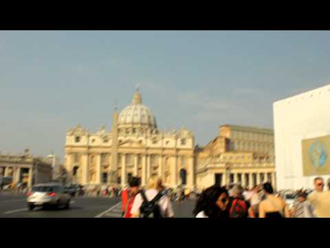 Walking towards St Peters Square - Vatican City