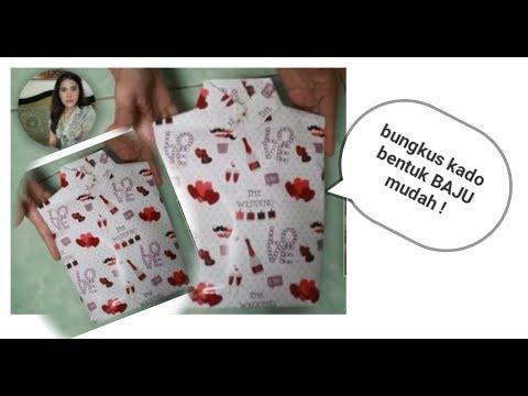 Cara Membuat Bungkus Kado Bentuk Baju Mudah Dan Sederhana | Simple Gift Wrapping