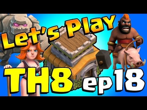 Clash of Clans: Let's Play TH8! ep18 - POINT DEFENSES MAXED!!