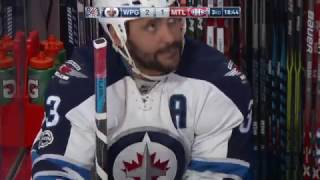 Perrault goes top shelf after sick one-handed Byfuglien feed