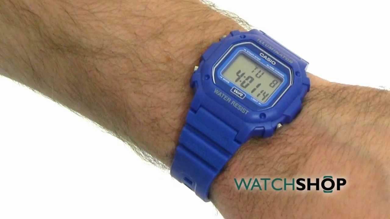 f6b37a976 Unisex Casio Classic Alarm Chronograph Watch (F-108WH-2AEF) - YouTube