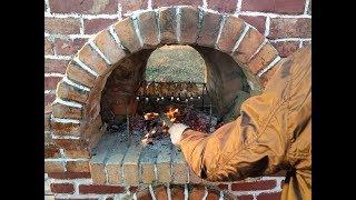Приготовление шашлыка на квасе в русской печи