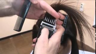 Захват пряди волос насадкой