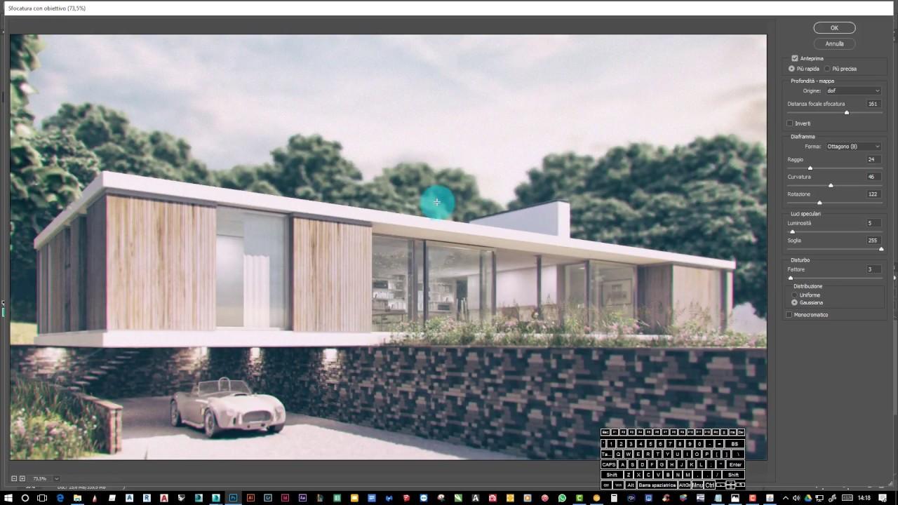 Post produzione del Render con Photoshop | Visualizzazione dell'architettura
