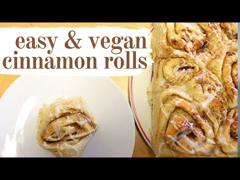 VEGAN CINNAMON ROLLS | How to make tasty vegan cinnamon buns at home! No dairy + no eggs!