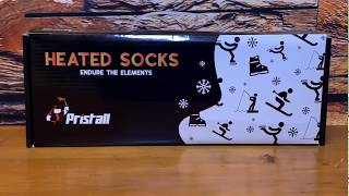 Pristall Heated Socks Unboxing and Demonstration