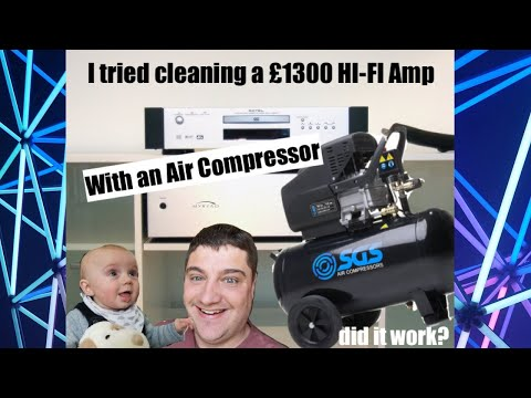 I cleaned a £1300 Power Amp with an Air Compressor and the results were amazing...