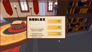 [Nov. 2018] Roblox Creator Challenge: Lessons 1-3 Answers | Library