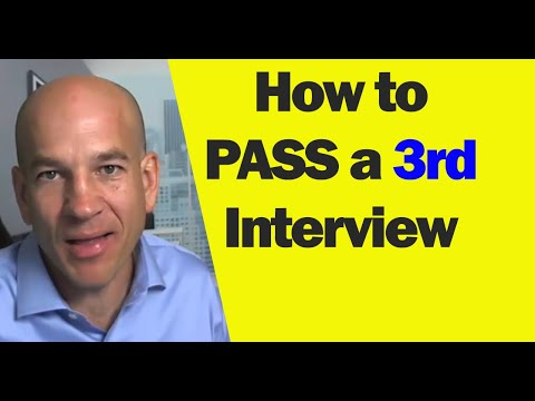 Third job (3rd) interview what to say to win them over - YouTube