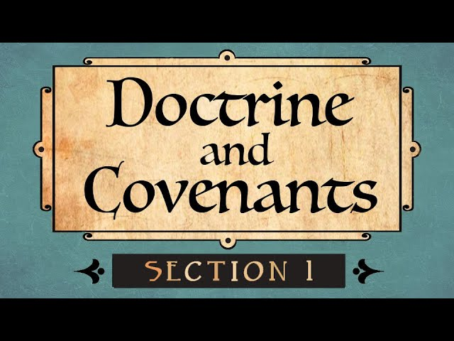 Doctrine and Covenants Section 1