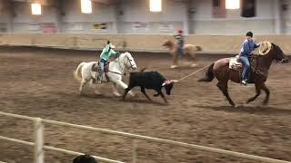 Annsley and Rhett team roping Sunday HYRA