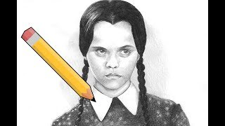 Drawing Wednesday Addams
