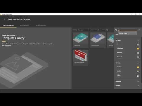 Template improvements - Google Web Designer