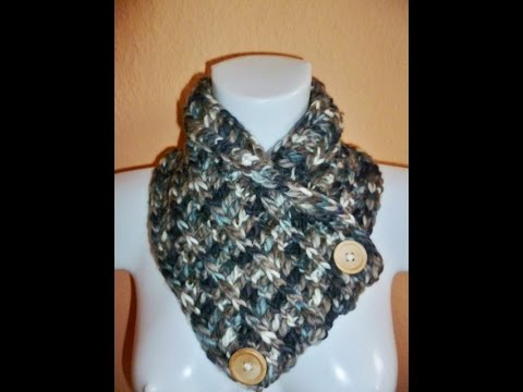 Loop Variante Nr 2 Knopfloop Häkeln Crochet Schal Anfänger