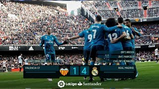 Gols Valencia 1 x 4 Real Madrid pela La Liga 17-18 FOX Sports