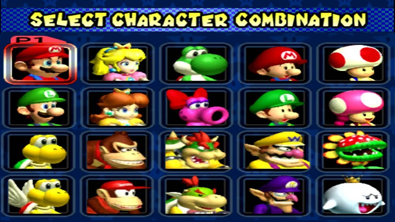 Mario Kart Double Dash!! All Characters