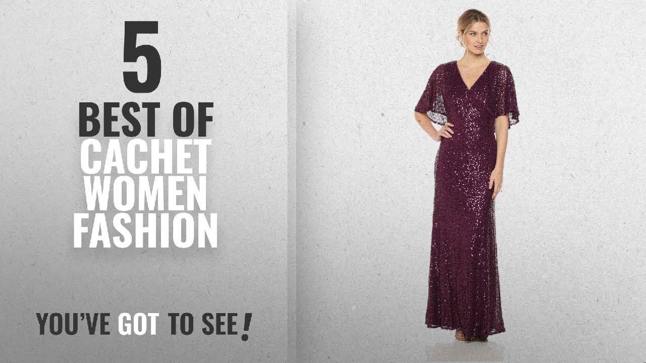 3c0ed686b24 Cachet Women Fashion  2018 Best Sellers   Cachet Women s Sequin Capelet Gown