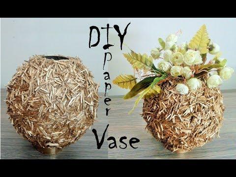 How to make Paper Vase - DIY Craft - DIY flower pot