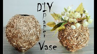 How to make Paper Vase - DIY Craft - DIY flower pot