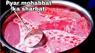 Pyar Mohabbat ka sharbat // jama masjid //watermelon sharbat // milk sharbat // watermelon juice