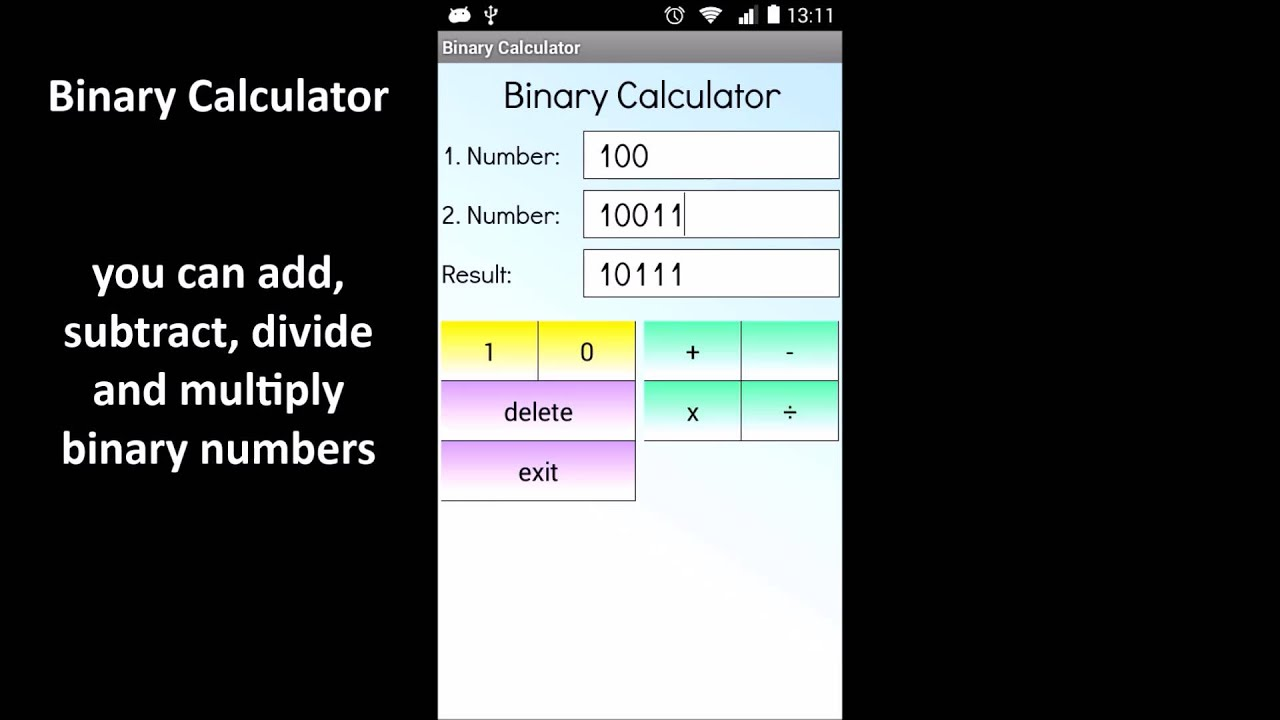 Binary Calculator 3 7 for Android - Download
