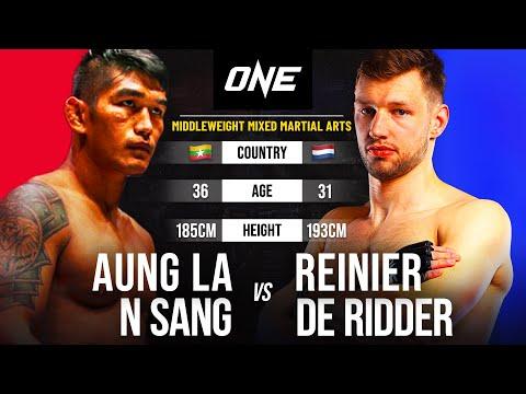 Aung La N Sang vs. Reinier de Ridder   Full Fight Replay