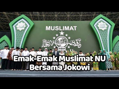 Lantunan Sholawat Badar Sambut Jokowi Di Harlah Muslimat Nu Ke 73
