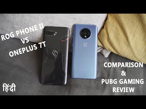 ONEPLUS 7T VS ASUS ROG PHONE 2 HANDS ON GAMING COMPARISON HINDI