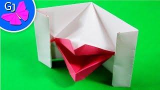 губы из бумаги. Оригами руками ребёнка