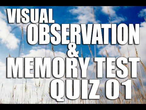 Visual Observation and Memory Test Quiz 01 How good IS your memory ? Brain Game for all ages |