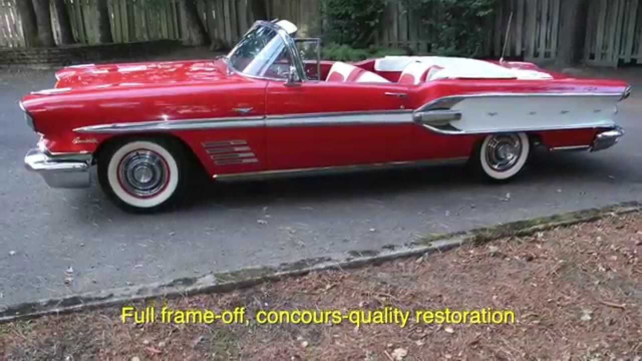 Pics photos 1958 pontiac for sale - 1958 Pontiac Bonneville Convertible Www Charvetclassiccars Com Youtube