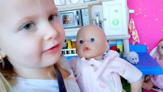 ИГРЫ в куклы ИГРАЕМ С СОБАЧКОЙ  Эльвира КАК МАМА  Кукла БЕБИ БОРН ЧЕЛЛЕНДЖ