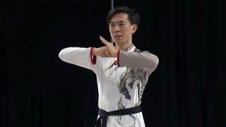 Винсент Чжоу Произвольная программа Мужчины Лас Вегас Гран при по фигурному катанию 2021 22