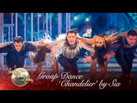 The Strictly pro-dancers perform a routine to 'Chandelier' by Sia - Strictly Come Dancing 2016