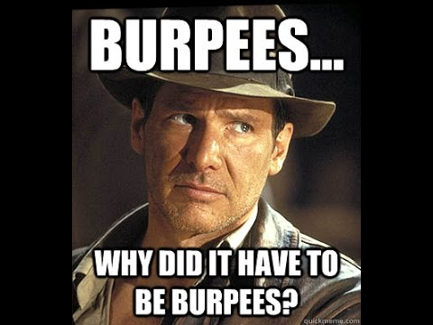Burpees: 101 rounds interval training