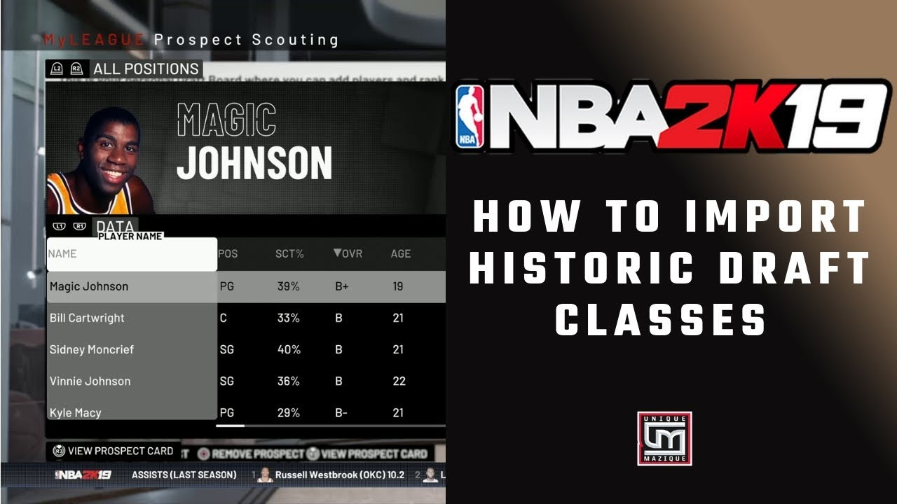 NBA 2K19 | How to Import A Historic Draft Class In MyLeague