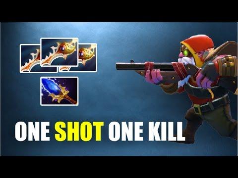 DAILY 1 MMR # 21 - ONE SHOT ONE KILL 3 RAPIER SNIPER AGHANIM SCEPTER 7.00 | Dota 2