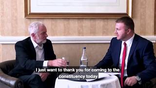 Chris Webb interviews Jeremy Corbyn in Blackpool