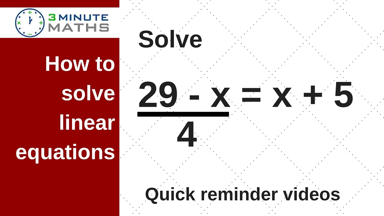 linear equations find the value of x gcse maths level 7 question youtube. Black Bedroom Furniture Sets. Home Design Ideas