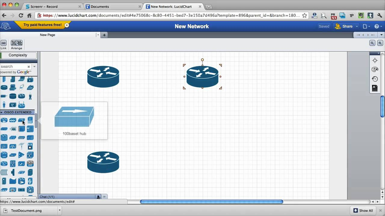 draw network diagrams online with cisco stencils youtube - Online Diagram Drawer
