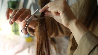 ASMR| 상한모발 정리해드릴게요💈🚿/커트,클리닉 헤어샵 롤플/Cut, clinic Hair shop RP/