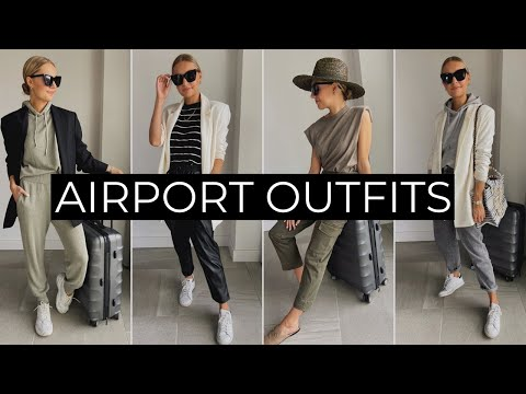 AIRPORT & TRAVEL OUTFIT IDEAS 2020 - YouTube