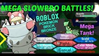 Roblox: Pokemon Brick Bronze: MEGA SLOWBRO BATTLES! 1V1!