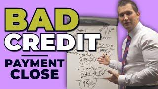 Car Sales Training: Bad Credit Customer Payment Close